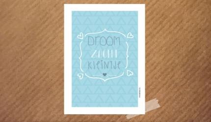 poster droom zacht kleintje blauw