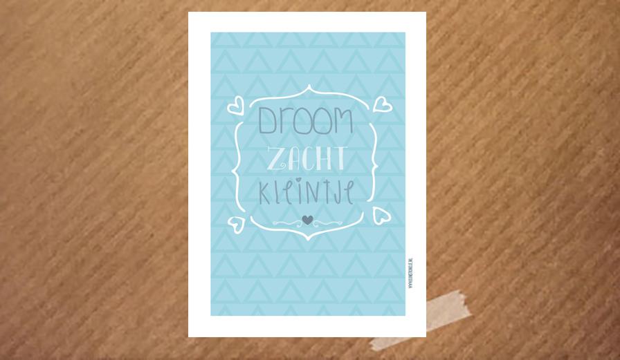 Poster Babykamer Pastel : Poster droom zacht kleintje kunstkindje