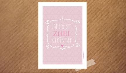 poster droom zacht kleintje roze