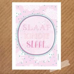 poster-slaap-kindje-slaap-roze