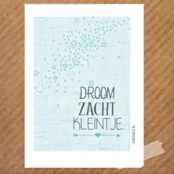 poster droom zacht kleintje sterren
