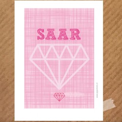 naamposter-diamond-pink