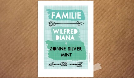 familie poster-arrow