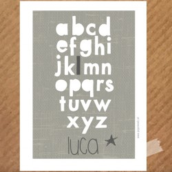 naamposter-abc-wit-taupe